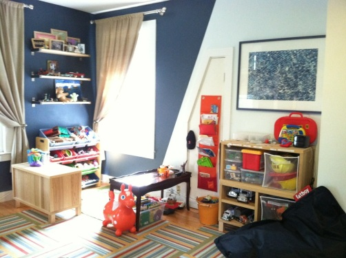 Play area in boys' bedroom