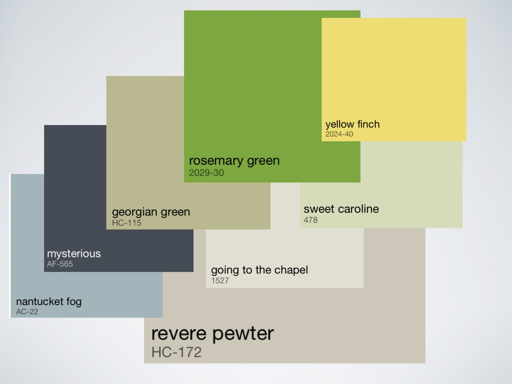 Working roi design for Whole house paint color palette