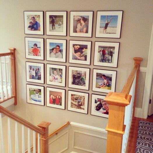 Gallery wall black frames
