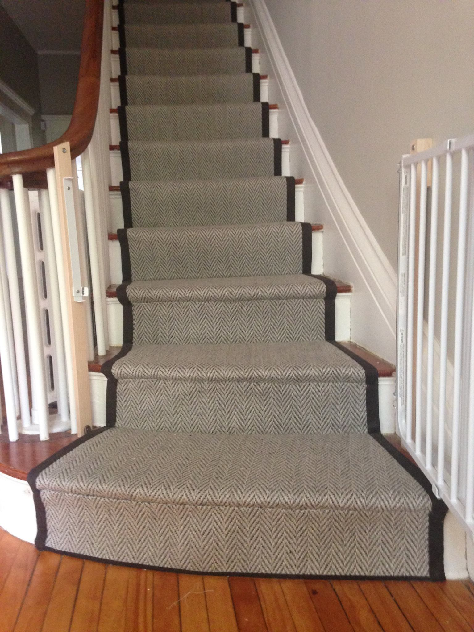 Herringbone Flat Weave Carpet Crafted And Installed By The Carpet Workroom