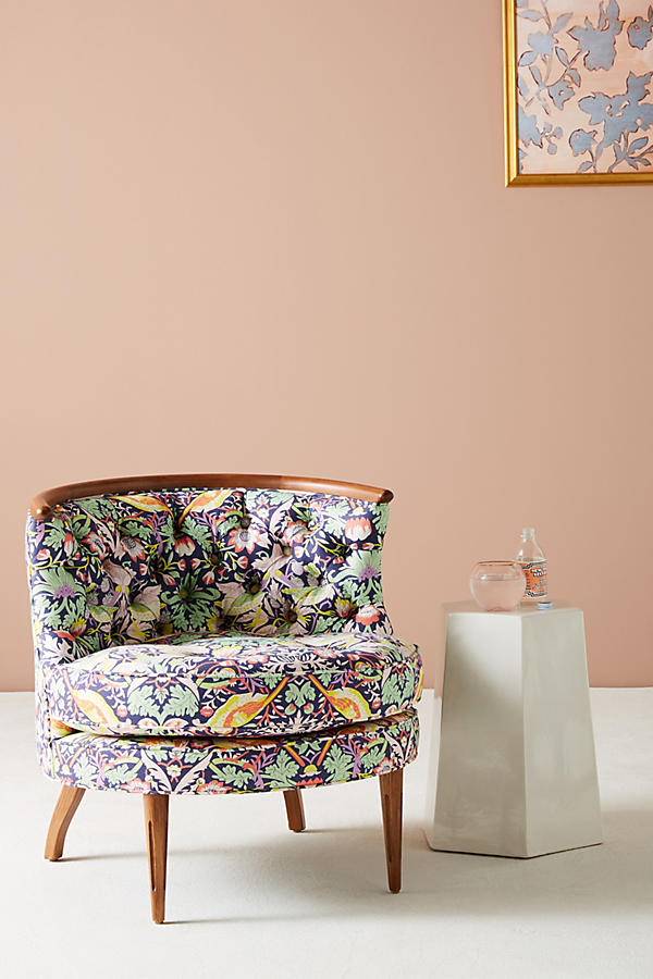 Liberty For Anthropologie Strawberry Thief Bixby Chair